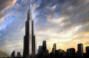 A rendering of the 2,749-foot Sky CIty in Changsha in Hunan province, China.