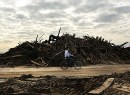 Piles of wood at the Rockaways (source: Slate)