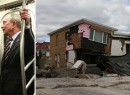From left: Marc La Vorgna, Mayor Bloomberg and a storm-battered home in Queens