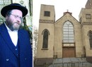 Rabbi Mendl Greenbaum (credit: The Villager) and 60 Norfolk Street