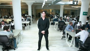 Adam Neumann at WeWork's 175 Varick Street location