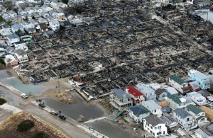 An overview of the 110 Breezy Point homes that burned down during the storm.
