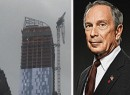 The One57 crane and Mayor Bloomberg