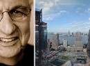 From left: Frank Gehry and the WTC site