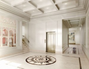 150 East 72nd Street's renovated lobby