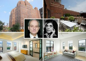 David Chase and Susan Sontag (inset)