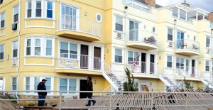 Rockaway homes that were damaged in the storm