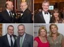 Clockwise from top left: David Levinson and Larry Silverstein; Peter Hauspurg and Daun Paris; Sen. Chuck Schumer and Harold Fetner; and Faith Hope Consolo and Dottie Herman (credit: Marc Becker)
