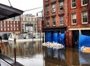 Sandy flood waters in Lower Manhattan