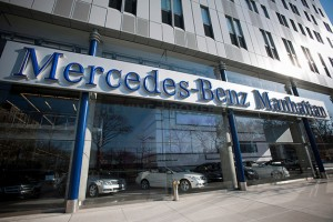 Mercedes-Benz&#039;s 11th Ave dealership in the base of Mercedes House