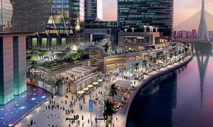 A rendering of the the Galleria at Sowwah Square in Abu Dabi