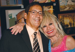 Elliman broker Lawrence Rich with designer Betsey Johnson at 