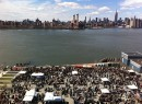 Aerial shot of the Brooklyn Flea (credit: Greenpoint Gazette)
