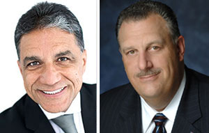 From left: Joseph Moinian and GaryLaBarbera