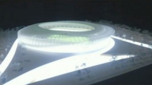 A rendering of the MLS stadium in Flushing Meadows Corona Park