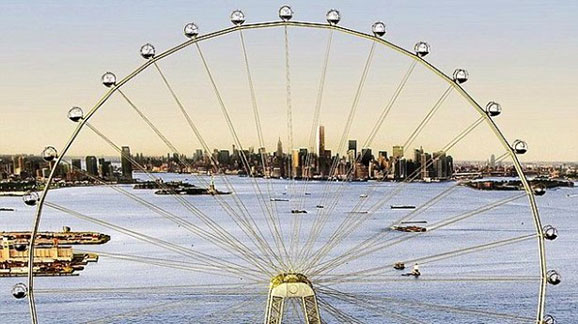 A rendering of the ferris wheel in Staten Island