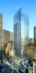 The under-construction International Gem Tower at 50 West 47th Street