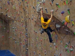 A climbing wall at Cliffs