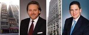 From left: Bob Knakal, 9 East 38th Street, 920 Broadway and John Ciraulo