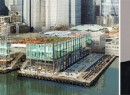 A Pier 17 project rendering and Howard Hughes CEO David Weinreb