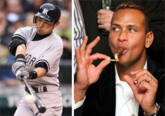 Ichiro Suzuki and Alex Rodriguez 