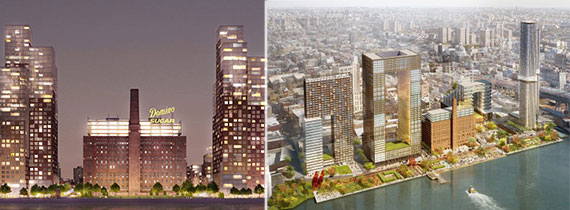 Renderings of Two Trees' Domino Sugar project