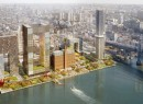 A rendering of the Domino Sugar Factory site (Photo c/o SHoP Architects)