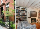 From left: Chloe Sevigny, the exterior of 119 East 10th Street and a photo of her home