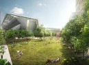 A rendering of the proposed Cornell NYC Tech campus