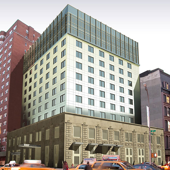 Rendering of the Hyatt Union Square Hotel