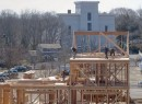 Construction on the townhouses at the Watchcase Factory in Sag Harbor