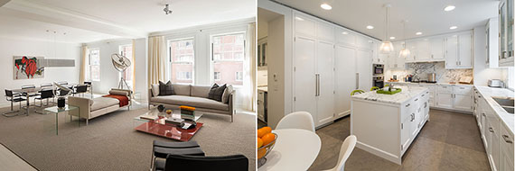 Interior shots of 150 East 72nd Street (courtesy Macklowe Properties)
