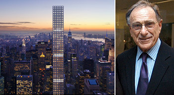 From left: 432 Park Avenue (image via dbox for CIM Group & Macklowe Properties) and Harry Macklowe)