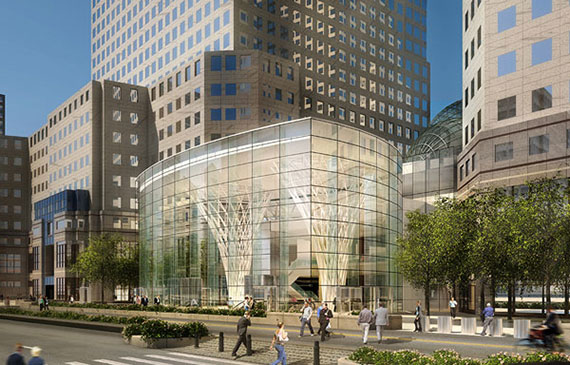 A rendering of the retail space at Brookfield Place