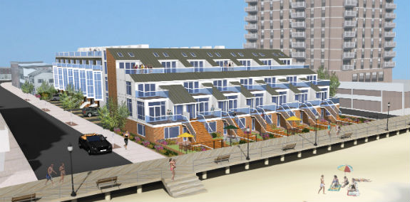 A rendering of the Waves, in Ventnor, New Jersey