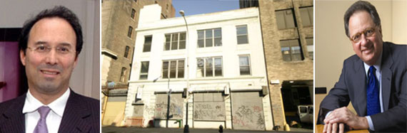 From left: Gary Barnett, the site at 68-74 Charlton Street and John Angelo