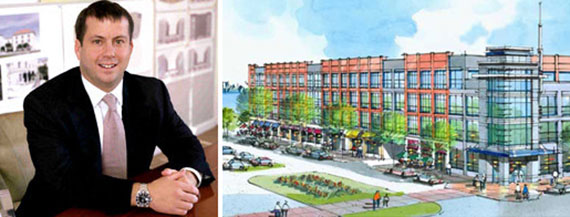 Ironstate Development President David Barry and a rendering of the Homeport development