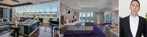From left: Images of the penthouse and