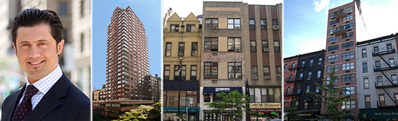 From left: Fabrizio Uberti-Bona, 157 Columbus Avenue, 222 West 72nd Street and 465 Columbus Avenue