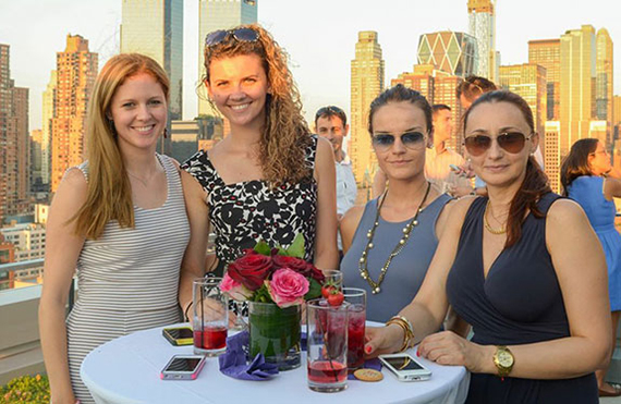 From left: Anchor Associates' Kelly Neptune, Justyna Czekaj of Spire Group, Aleksandra Milanova of Spire and Natalia Stoyanova of Spire Group (credit: Andrea Meggiato)