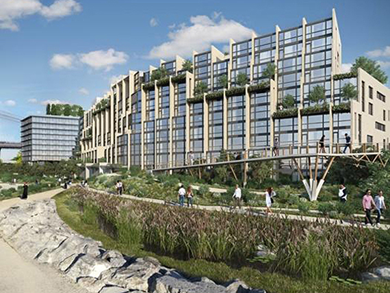 rendering of condos at Pier 1 in Brooklyn Bridge Park
