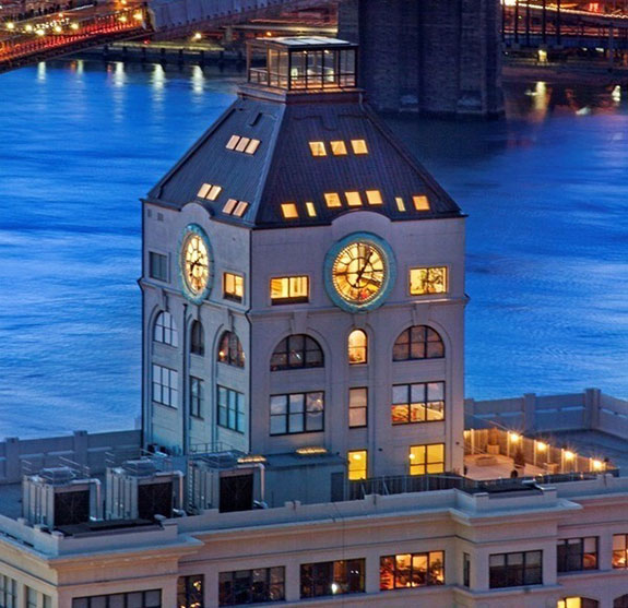 Clocktower Building at 1 Main Street in Dumbo, Brooklyn