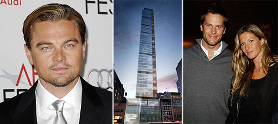 From left: Leonardo DiCaprio, One Madison Park, Tom Brady, Gisele Bundchen