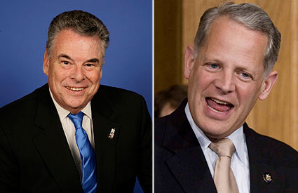 From Left: Rep. Peter King, Rep. Steve Israel