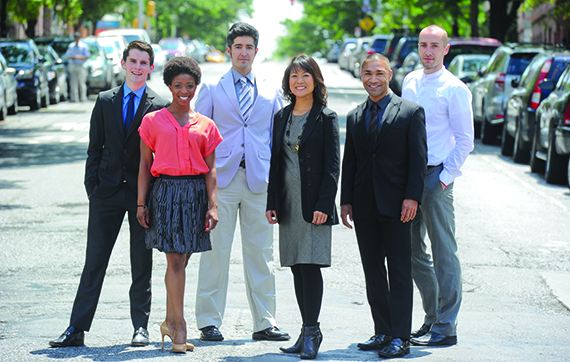 The RA team, from left: Arthur Vinuelas, LaQuet Pringle, Kelly Armendariz, Christine Ra, Sam Cahn and Stephan Watts