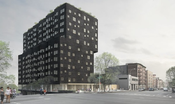 A rendering of the Sugar Hill development