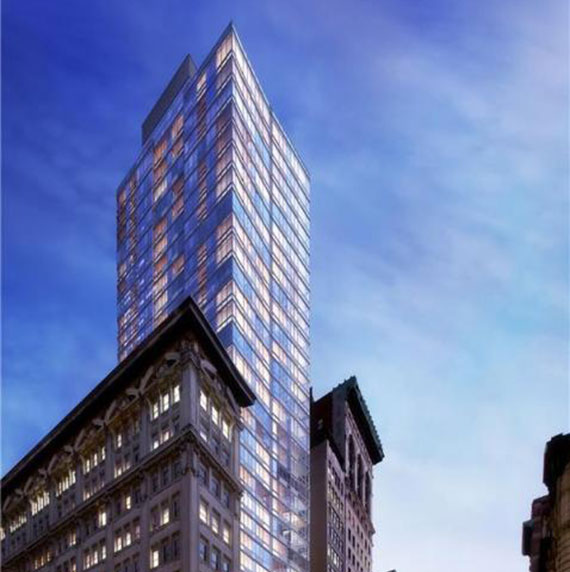 A rendering of the Dylan at  309 Fifth Avenue