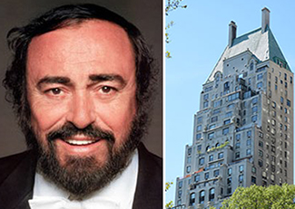 Luciano Pavarotti and Hampshire House at 150 Central Park South