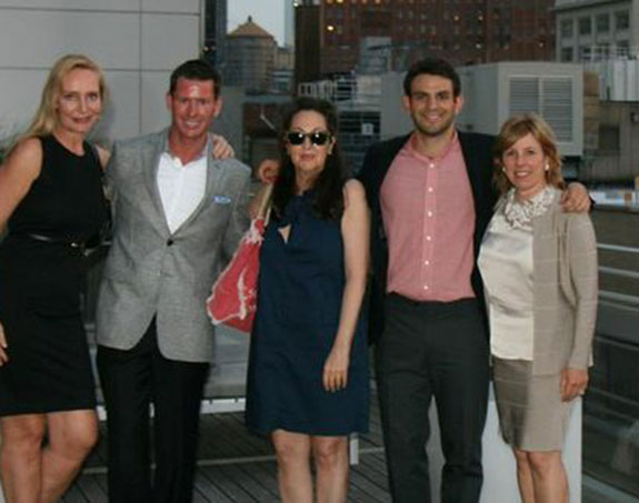 From left: Marie-Claire Gladstone of the Corcoran Group, James Cox of Town, Meg Siegel of Sotheby's International Realty, Frank Giordano of Town and Mara Blum of Sotheby's