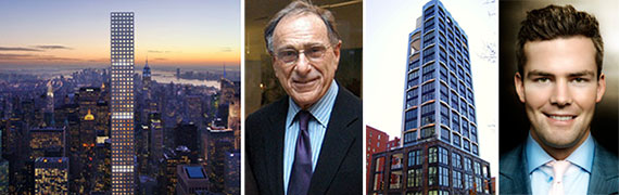 From left: 432 Park Avenue, Harry Macklowe, 200 Eleventh Avenue and Ryan Serhant